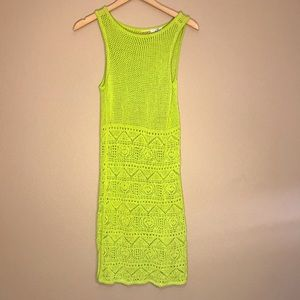 ECHO Lime Green Bathing Suit Cover Up